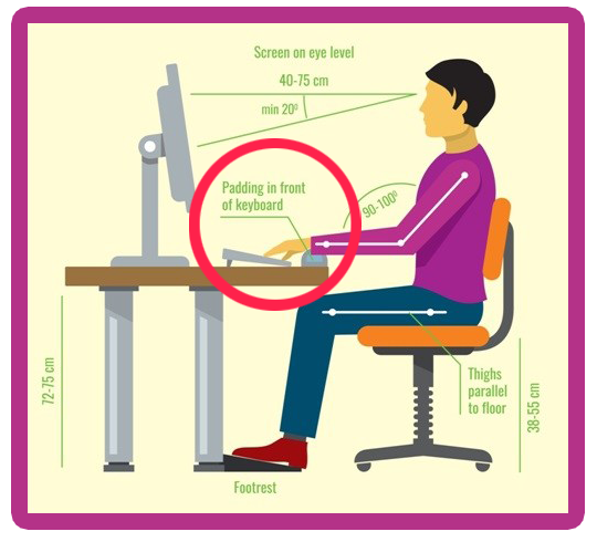 Keyboard Position While Working on Computer