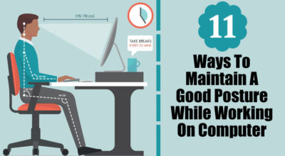 how to maintain good posture while working on the computer